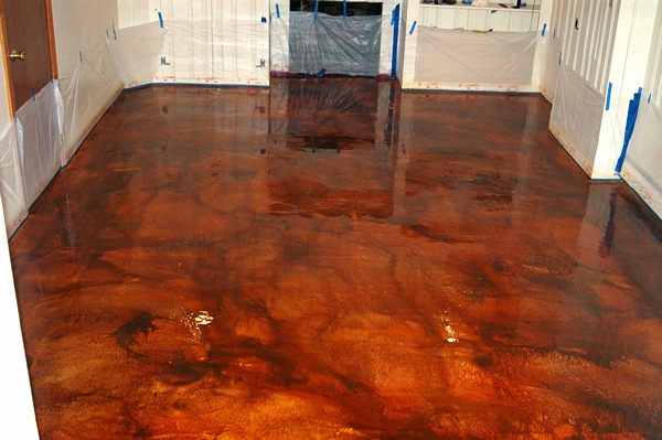 Image Result For Acid Staining Concrete Floors