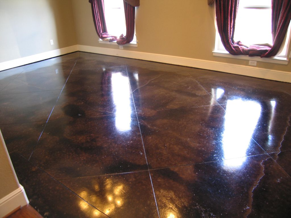 black stained concrete floors. 901 237 3672 allwallconcepts